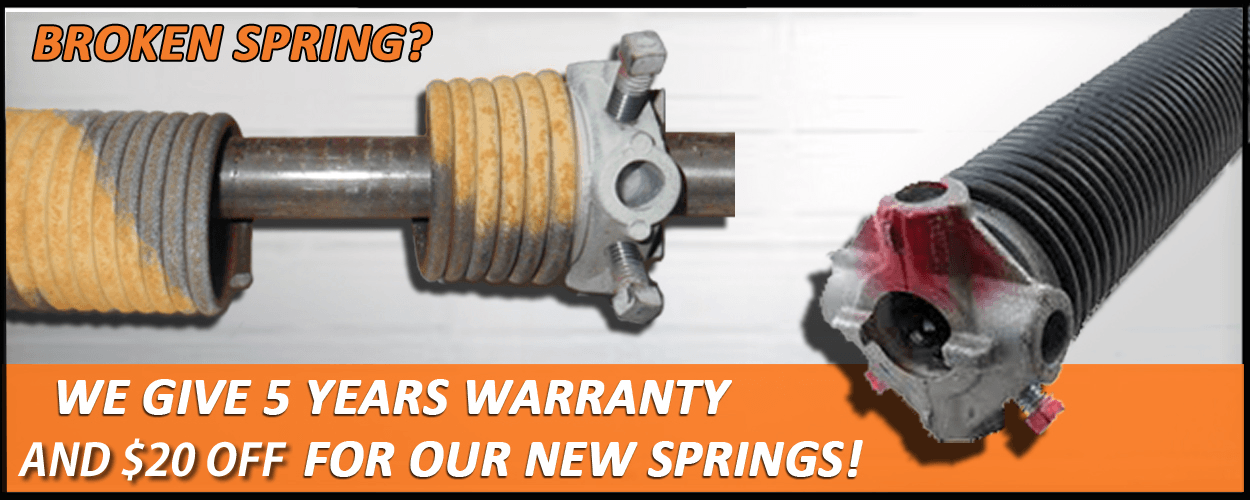 broken garage door spring replacement noline illinois